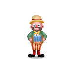 Antique Accordion Playing Clown Figurine
