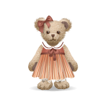 Antique Girl Teddy Bear