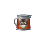 Tin Kitty Teapot