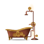 Copper Steampunk Bath