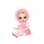 Vintage Baby Doll in Pink
