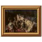 Antique Lady and Child Painting