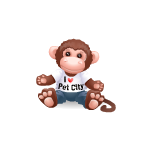 I Love Pet City Monkey Plushie