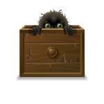 Box with Fuzzy Monster