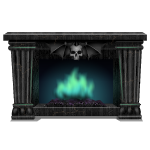 Black Wood Gothic Fireplace