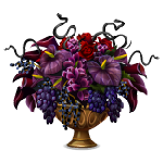 Burgundy Flower Arrangement with Snakes