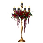 Gothic Flowers with Black Candles Candleabra