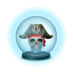 Mysterious Pirate Skull Crystal Ball