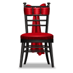 Black Chair with Crimson Bow