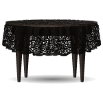 Black Lace Covered Table
