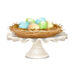 Easter Nest with Eggs Table Decor