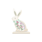 Rabbit with Flowers Decor