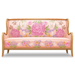 Sofa with Floral Pattern