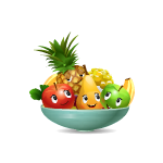 Happy Fruits Bowl
