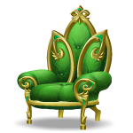 Angled Emerald Palace Armchair