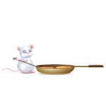 White Little Cooking Mouse