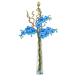 Blue Orchids in Tall Vase