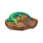 Desert Lizard on Rock