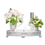 Decorative Tray with Peonies