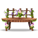 Wooden Fairy Neverland Bench