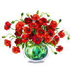 Poppy Flowers in Vase