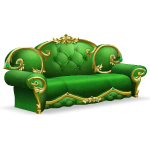 Emerald Palace Angled Sofa
