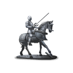 Knight on Horse Figurine