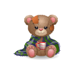 Patches Bear - Cozy Winter Edition