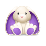 White and Purple Bunny Plushie