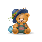 Boy Handy Bear with Rake