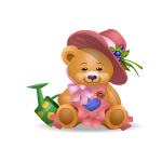 Girl Handy Bear with Water Can