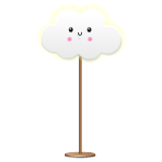 Kawaii Cloud Floor Lamp