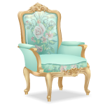 Angled Pastel Mint Armchair