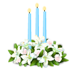 Easter Lillies with Candles