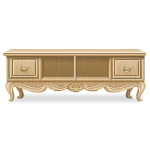 French Style Basswood Hall Cabinet