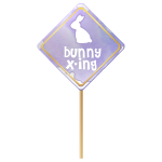 Bunny X-ing Sign