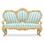Blue Striped Sofa