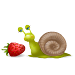 Cute Snail with Strawberry