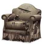 Angled Ragged Armchair with Centipedes