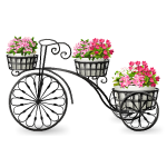 Wrought Iron Bicycle Planter