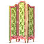 Green and Pink Room Divider