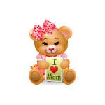 Mother's Day Girl Holiday Bear