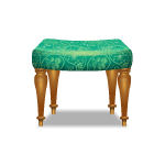 Teal Green Stool