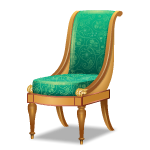 Angled Teal Green Chair