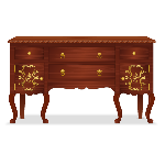 Elegant French Aristocrat Cabinet