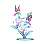 Glass Humming Birds Figurine