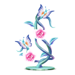Glass Butterflies Figurine