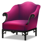 Angled Gothic Purple Armchair
