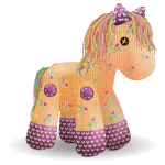Supersize Patchwork Horse Plushie