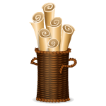 Basket with Scrolls